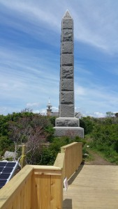 An obelisk on Star Island, raised in memory of the village's founder, whose name escapes me.