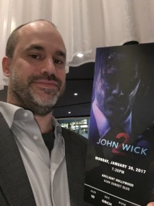John Wick - Chapter 2 Premiere ticket in hand!