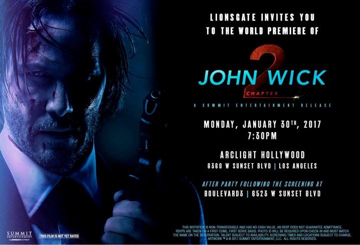 John Wick 2 Invite